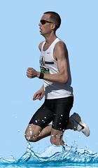Splash Run (Scott 97006) Tags: man guy male running runner splashing water shades tanktop exercise
