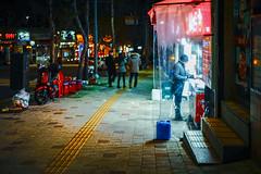2225/1715:z (june1777) Tags: snap street alley seoul night light bokeh canon 50mm f14 clear 250 fd sony a7ii