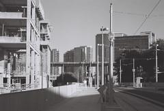 Portland (goodfella2459) Tags: nikonf65 ilfordpanfplus50 35mm blackandwhite film analog city streets road buildings portland oregon bwfp