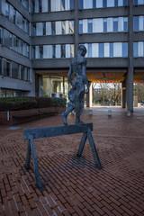walking the beam (Wendy:) Tags: wilton house dublin offices irish sculpture statue