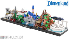 Lego Disneyland skyline [2] (BenBuildsLego) Tags: disney disneyland lego legos afol moc micro microscale castle space mountain monorail benbuildslego instructions millennium falcon smugglers run galaxys edge fantasy splash haunted mansion theme park toy toys