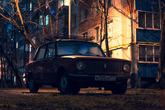 Icy Lada 2 (alexey & kuzma) Tags: lada fiat ussr russia car coche oldtimer retro vintage night street carspotting