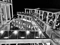Restaurant (AxellH1) Tags: black white blackandwhite schwarz weis blanco y negro bw spanien espana spain kanarische inseln canary islands islas canarias gran canaria las palmas mogan puerto rico riu vistamar