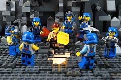 """OK, Thunder, Hand Over the Megablok and Nobody Gets Hurt"" (TheMagikMaster) Tags: lego legominifigures legophotography toyphotography powerminers miners mining cave rocks legocave underground johnnythunder adventurers megabloks 11220"