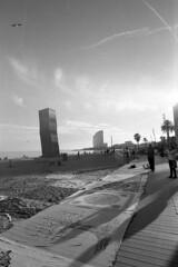 Afternoon, 26th -  Barcelona - December 2019 (cava961) Tags: barcelona barceloneta analogue analogico monochrome monocromo bianconero bw canon