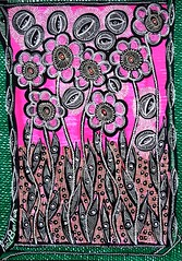 Flowers blossom modern artwork Israeli artist Mirit Ben-Nun (female artwork) Tags: artistic paint painting paintings painter draw drawing drawings woman women feminism femme acrilyc pencils pen markers marker person hand eyes relationship love magical magnetic heart dream friend fantasy main partner soul mate sunshine misterious beautiful complex cultured creative open energetic mirit ben nun people photoadd