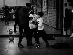 7766 - Teaching (Diego Rosato) Tags: teaching insegnamento allenamento training maestro master pugno punch hook gancio little boxer piccolo pugile boxe boxing pugilato boxelatina bianconero blackwhite fuji x30 rawtherapee