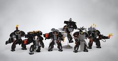 Lego Warhammer 40k Terminator Squad (Faber Mandragore) Tags: lego moc scifi mecha powersuit warhammer40k wh40k spacemarine terminator squad forgeworld faber mandragore fabermandragore