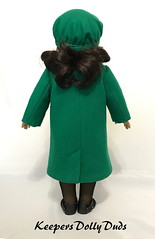 1927 Coat and Tam, made to fit American Girl Dolls, An Original KeepersDollyDuds Design (Keepersdollyduds) Tags: keepersdollyduds keepers tam coat wool buttons lace americangirldoll 18 doll