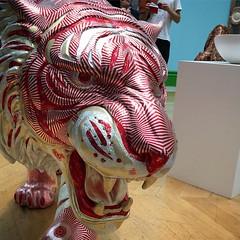 166/365 Tunnocks Teacake Tiger. #SummerExhibition2019 #RoyalAcademy #dailyphoto #project365 #sculpture #tiger