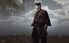 Bushido (Sadwolf SL Photos) Tags: hanasamue japonica slphotographer slblogger slnewreleases sl secondlife avatar virtualworld kimono gild mesh bento slmale slmodel