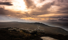 dark peak (Phil-Gregory) Tags: nikon naturalphotography nationalpark derbyshire derwent sun orange rocks path scenicsnotjustlandscapes sky clouds countryside cloudscape colour color countrylife tokina tokina1120mmatx wideangle ultrawide ngc england sheffield