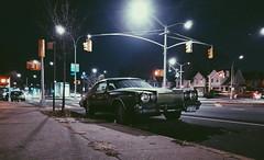 The Phantom of the Night (0sire) Tags: phonecamera cars night nyc newyorkcity queens woodhaven black chrysler cordoba