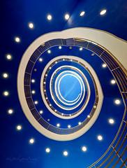Blue galaxy (Karsten Gieselmann) Tags: 714mmf28 architektur em1markii exposurefusion mzuiko microfourthirds olympus treppenhaus architecture kgiesel m43 mft staircase stairs