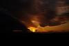 SUN PILLAR(太陽柱)ができた夕空