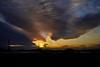 SUN PILLAR(太陽柱)と飛行機と