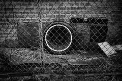 (012 of 366) Alley Spare (CarusoPhoto) Tags: fuji fujifilm tire blackandwhite black white bw monochrome monochromatic xpro xpro3 xf16mmf28 r wr xf16mmf28rwr 366 365 ptoject