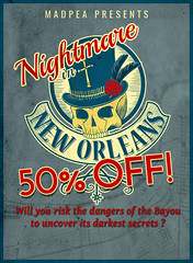 Nightmare in New Orleans Poster 50 off (MadPea Productions) Tags: madpeaproductions madpea game games gaming interactive interactivegames interactivegame interactivegaming socialgaming secondlife sl thrills mystery storydriven sale deal sales 50off