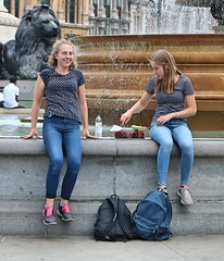Teenagers (Waterford_Man) Tags: jeans boy girls teens teenangers london street candid people