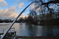 L'arco di giorno (luporosso) Tags: arco fiume alberi albero linköping svezia sverige kindakanal installazione
