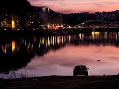 Lyon - Coucher de soleil sur la Saône à Vaise. (Gilles Daligand) Tags: lyon saone coucherdesoleil sunset