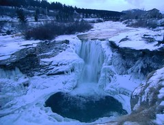 Deep Freeze Weather .. (Mr. Happy Face - Peace :)) Tags: art2020 hiking cans2s canada albertabound lundbreck crowsnest pass nature scenery landscape ice falls oldman river winter season