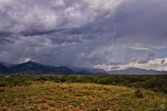 Never Give Up (Steven Maguire Photography) Tags: arizona thunderstorm lightning landscape southwest skyscape sierravista huachucamountians monsoon mountians