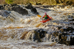Going with the flow (tonguedevil) Tags: outdoor outside countryside winter nature river tees teesdale water afternoon colour light shadows sunlight sport canoeing