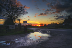 Crooked Mile Sunset 2 (nigdawphotography) Tags: sunset water reflection winter weather season crookedmile essex