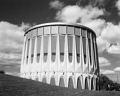 M+T Pumping Stations, Toronto (Time Share) Tags: shenhaohzx45iia fujinonw135mmf56 aristaeduultra10050iso orangefilter 4x5 largeformat 4x5film largeformatfilm film toronto torontosewagepumpingstation analog analogue analogphotography