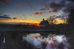 Crooked Mile Sunset (nigdawphotography) Tags: sunset water reflection winter weather season crookedmile essex