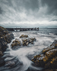 Portencross (victoriaredpath@yahoo.co.uk) Tags: ayrshire west coast scotland hightide rain storm waves pier portencross sea