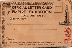 official letter card (galoot fc) Tags: vintage postcard scotland glasgow empire exibition 1938
