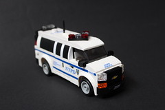 Chevy Express Van NYPD (sponki25) Tags: nypd new york police department chevy chevrolet express van transporter moc lego legonyc nyc