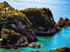 Paleokastritsa Beach, Corfu, Greece (Seymour Lu) Tags: paleokastritsa leica travel scenery altitude gh5 mirrorless ocean vacation landscape aqua europe mediterranean greece beaches corfu greenwater panasoniclumixgh5