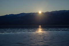 Sunset at Badwater Basin (San Francisco Gal) Tags: badwaterbasin panamintmountains deathvalley nationalpark sunset water reflection salt january 2020
