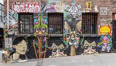 John Murray, Kasper, James Wilson Duckboard Place 2020-01-12 (5D4_9403) (ajhaysom) Tags: johnmurray kasper jameswilson duckboardplace melbourne australia streetart graffiti canon1635l canoneos5dmkiv