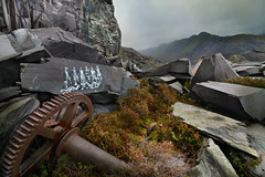 The workers are still here (PentlandPirate of the North) Tags: dinorwic mary painting slate quarry workers graffiti snowdonia northwales gwynedd