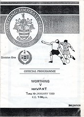 Worthing v Havant Town (Havant & Waterlooville) Tags: havant waterlooville worthing gilbert rice cup football programme