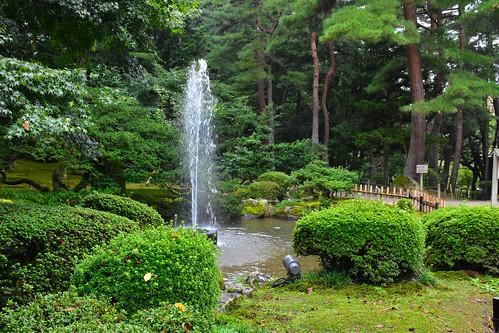Fountain, Kenrokuen Garden, Kanazawa, Japan