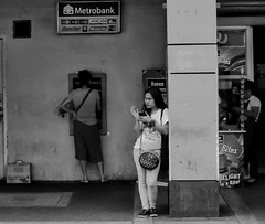 Waiting (Beegee49) Tags: street people woman filipina waiting blackandwhite monochrome sony a6000 bacolod city philippines asia happyplanet asiafavorites