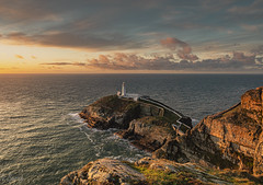 South Stack (nigel.barry22) Tags: sunset sea ocean cliff rock stack lighthouse southstack holyhead anglesey