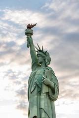 She's a Lady (Karen_Chappell) Tags: lasvegas travel liberty statue usa nevada canonef24105mmf4lisusm clouds statueofliberty green