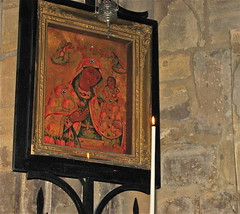 In Paris (vittorio vida) Tags: travel france icon ladies candle light aer painting madonna virgin maria mary church chapel religion jesus child red