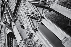 Basilica of The Immaculate Conception (Burnt Umber) Tags: buttresses pinnacles spires steeple stone stonework stainglass crucifiction christ basilicaoftheimmaculateconception jacksonville florida silverefexpro2 pentax k5 digital ©allrightsreserved rpilla001 tamron1750mmf28
