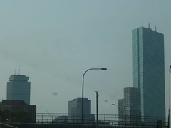 Boston Thursday, September 3, 2015 (tombrewster6154) Tags: boston massachusetts capital commonwealth interstate 90 turnpike road up looking buildings tall center prudential john hancock towers summer late early september 2015 mmxv thursday afternoon picture photograph