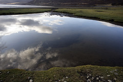 another view of the same pond (lawatt) Tags: pond water reflection clouds sky þorskafjörður westfjords iceland sonya7 zeiss flektogon 20mm