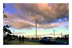 Mudança no tempo (o.dirce) Tags: nuvens praia cidade carro dirce odirce