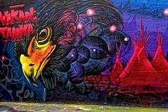 Wakan Tanka (Edgard.V) Tags: paris parigi street art urban urbano arte callejero graffiti mural eagle aigle aquila aguia tipi sioux indians amérindiens indios esprit spirit espirito spirito trois couronnes