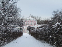 hot-house  in museum Kuskovo (VERUSHKA4) Tags: tree park way canon europe russia moscow architecture winter january hothouse hiver building ville city cityscape window vue view season blanc bush path roof perspective branch bough wintry cold astoundingimage cloudy ciel sky day
